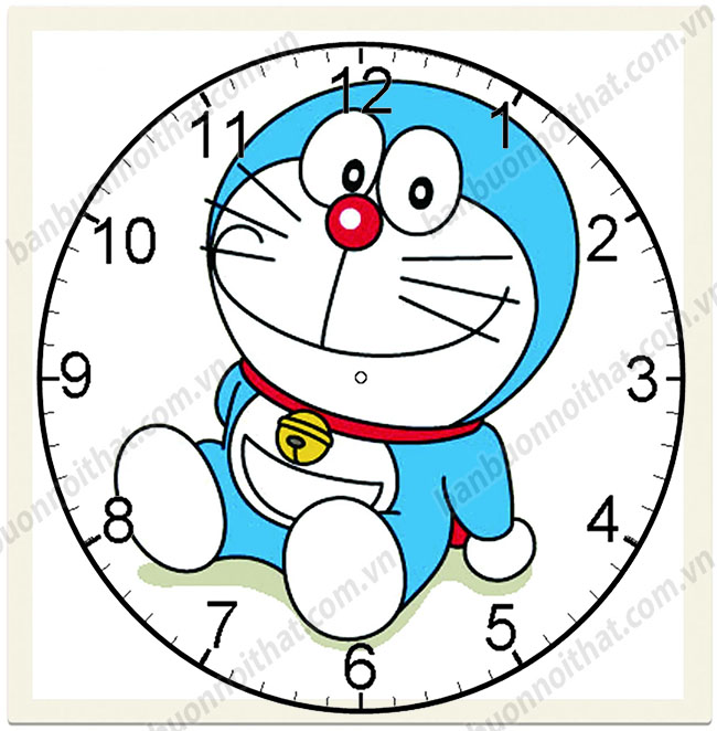 Tranh đồng hồ Doraemon trang trí phòng trẻ em