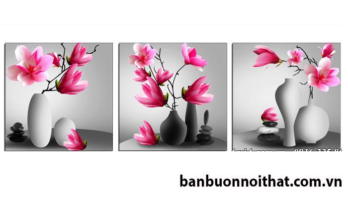 Mẫu tranh treo tường đẹp hoa mọc lan Amia 1490 trang trí nội thất hiện đại