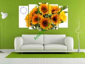 Mẫu tranh đồng hồ hoa hướng dương