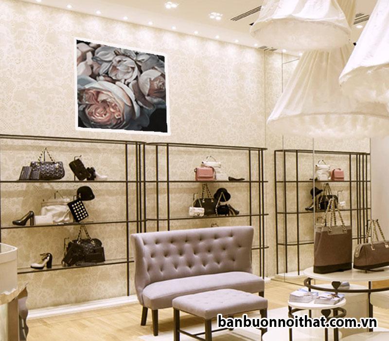 Tranh in canvas treo tường cửa hàng túi xách nữ