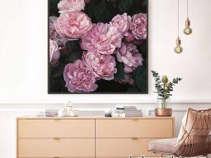 Tranh treo tường hiện đại hoa hồng trang trí không gian trẻ