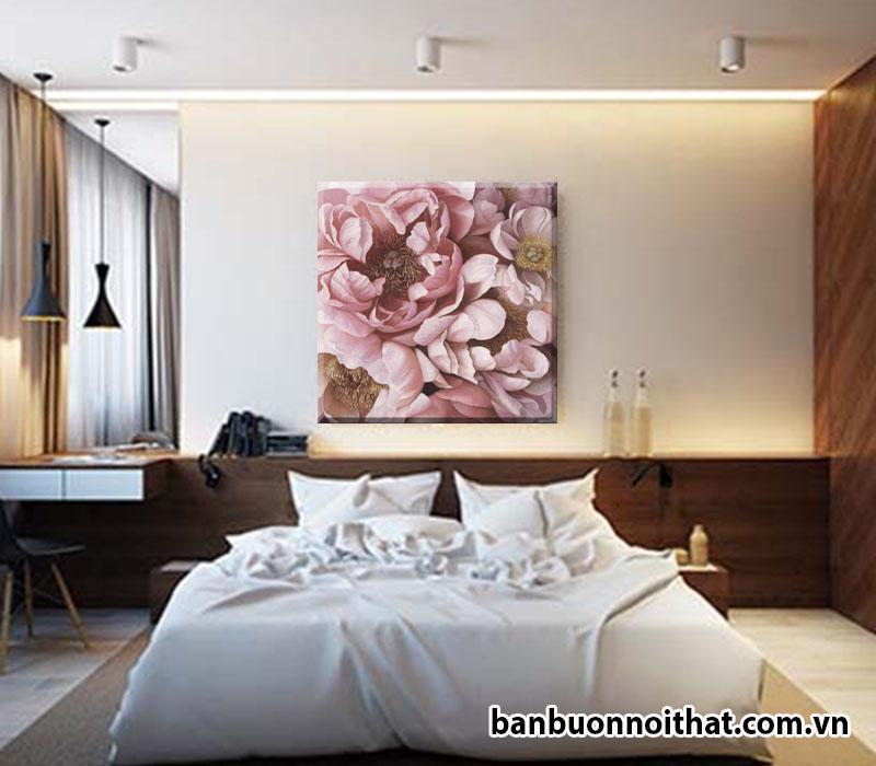Tranh in vải canvas đẹp trang trí đầu giường ngủ