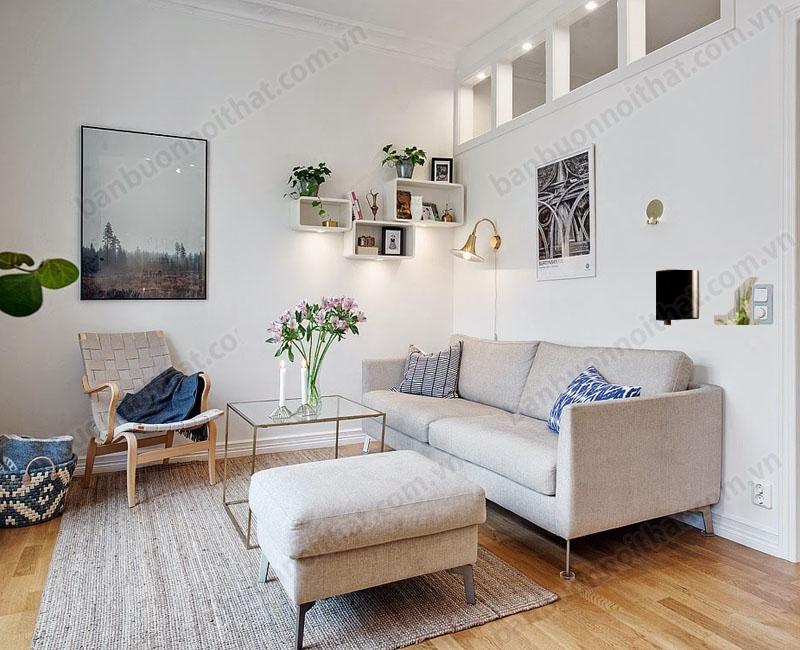 Hoa văn họa tiết qua gối sofa, thảm trải nhà hay tranh treo tường là nét độc đáo trong phong cách trang trí Scandinavian