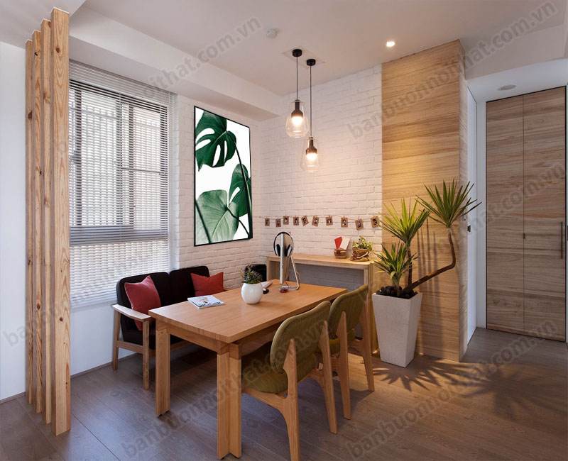 Phòng ăn trang trí phong cách Bắc Âu