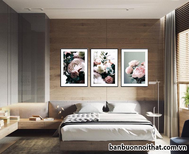 Tranh in canvas hiện đại trang trí phòng ngủ đẹp Amia TCV02