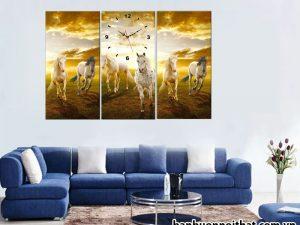 Mẫu tranh treo tường ngựa đẹp, trang trí phòng khách, phòng làm việc