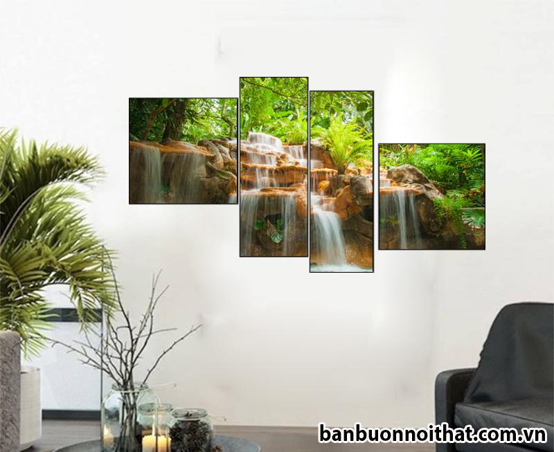 Tranh thác nước đẹp trang trí sảnh phòng khách