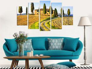 Mẫu tranh đồng hồ phong cảnh Châu Âu đẹp trang trí phòng khách, phòng làm việc