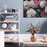 Tranh treo tường hoa hồng 1 tấm đẹp, trang nhã