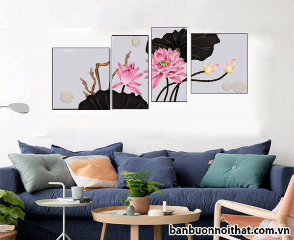 Mâu tranh hiện đại trang trí nhà chung cư. Gợi ý treo tranh nhà chung cư