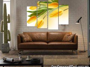 Tranh hoa tulip đẹp trang trí phòng khách, phòng ngủ TL03