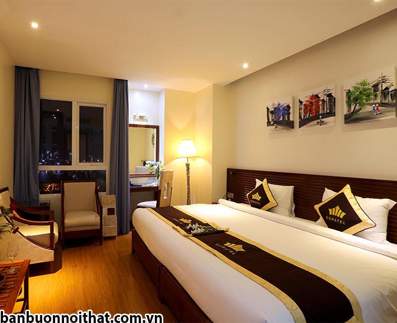 Tranh sơn dầu vẽ tay khổ nhỏ trang trí phòng khách sạn