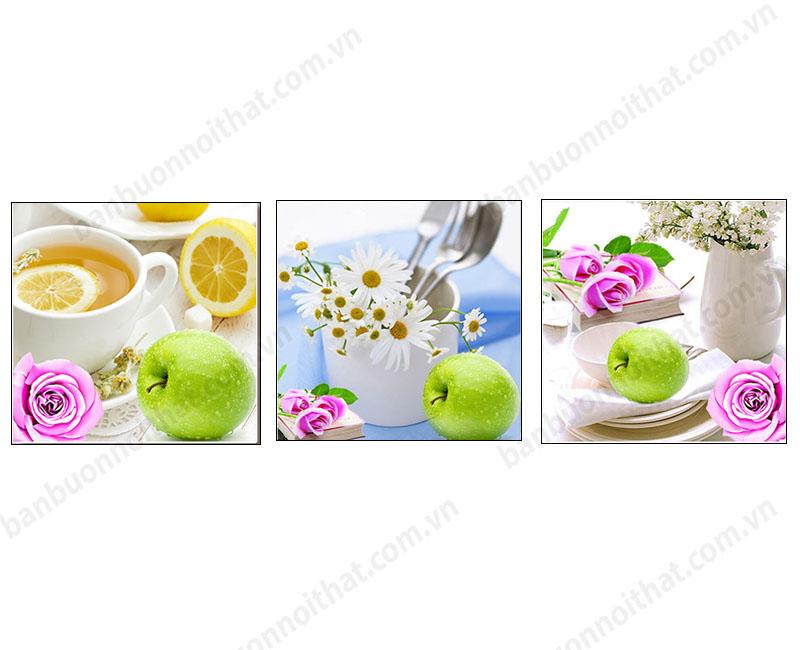 Mẫu tranh treo tường trang trí bàn ăn trang nhã
