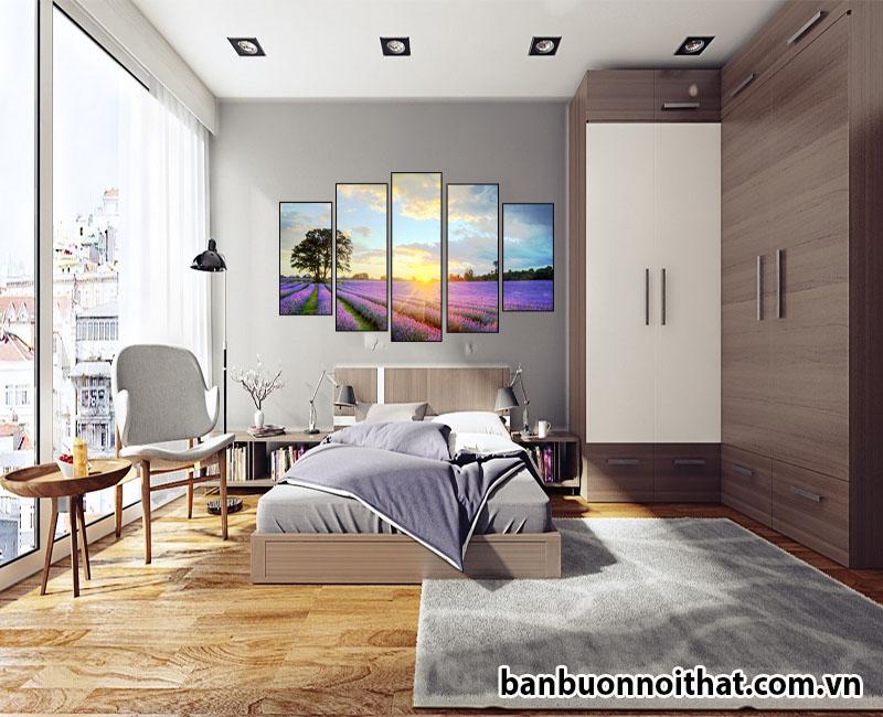 Tranh được dùng để trang trí phòng ngủ hiện đại