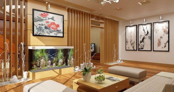 Trang trí phòng khách phong cách Hàn Quốc, sofa đẹp, tranh treo tường hiện đại