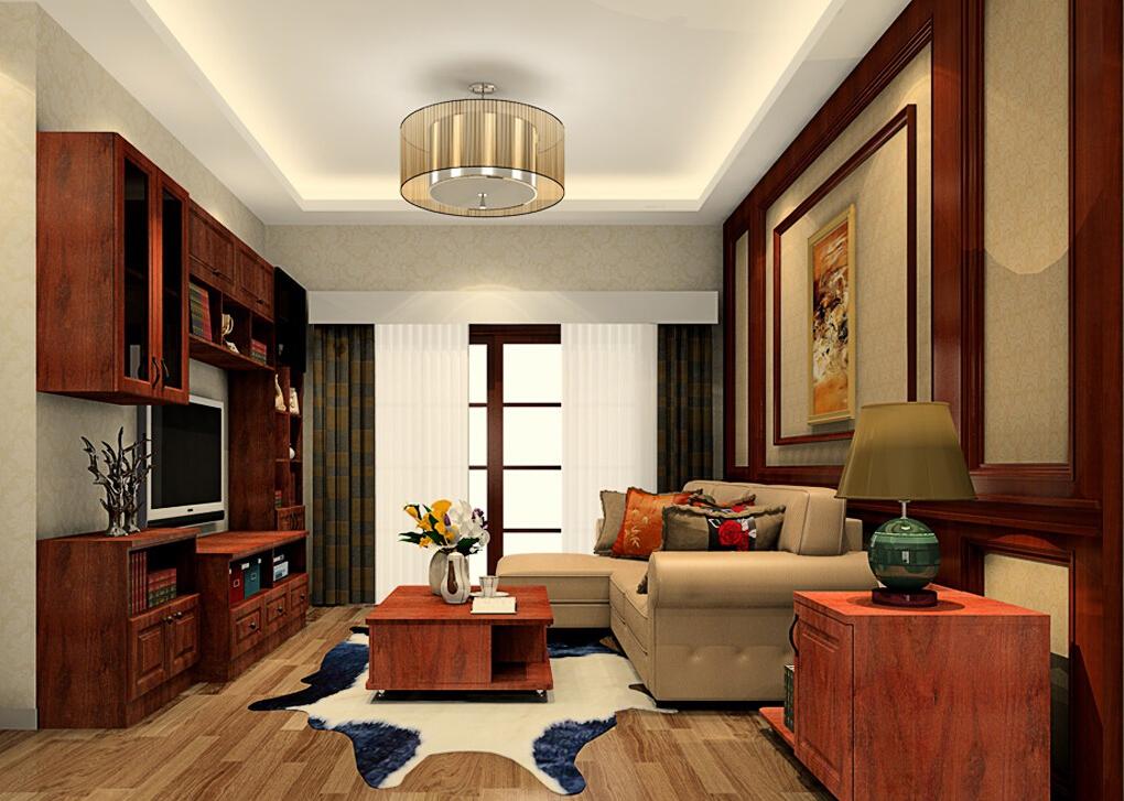 Phòng khách mang đậm nét Á Đông với nội thật bằng gỗ