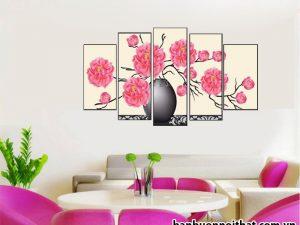 Tranh bình hoa ghép nghệ thuật hiện đại đẹp