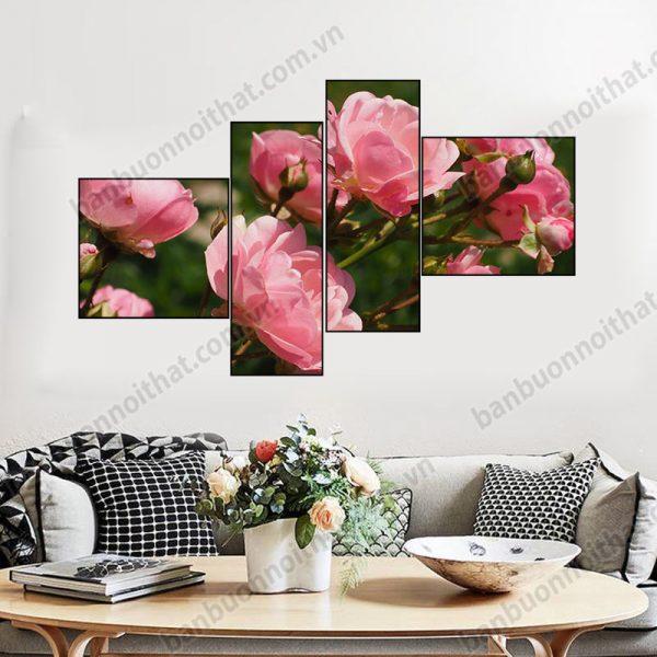 Mẫu tranh ghép hoa hồng hiện đại không đồng hồ, nơi bán, địa chỉ bán tại Hà Nội