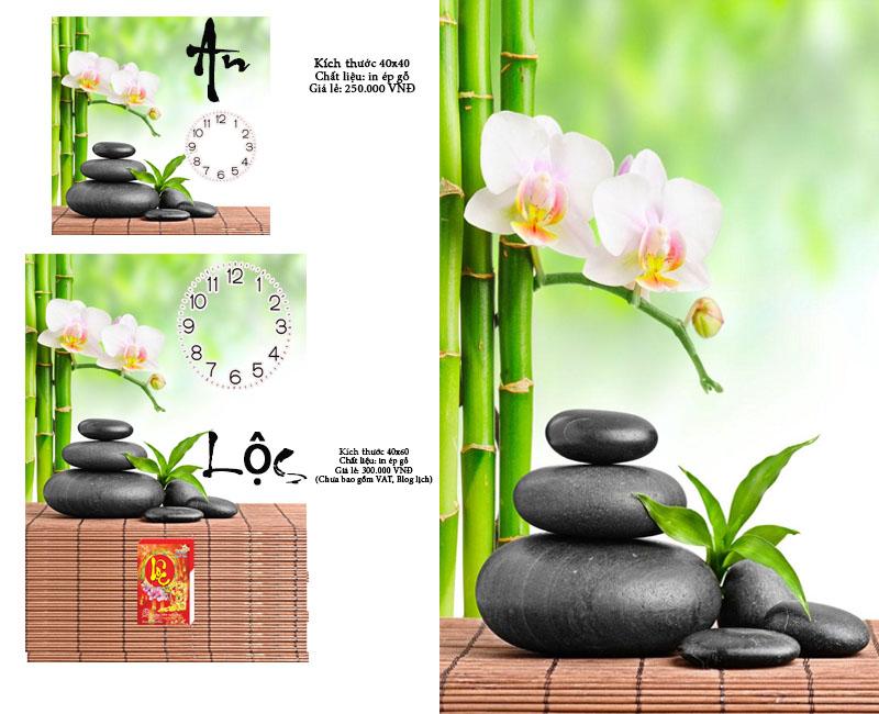 Tranh đồng hồ chữ An, chữ Lộc dùng làm quà tặng khách hàng
