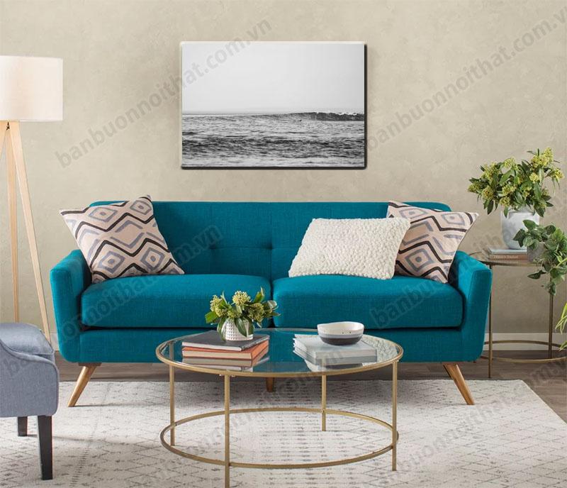 Tranh canvas phong cảnh biển trang trí phòng khách nhỏ