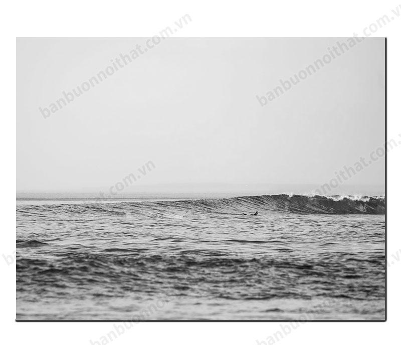 Tranh canvas đen trắng phong cảnh biển đẹp trang trí hiện đại