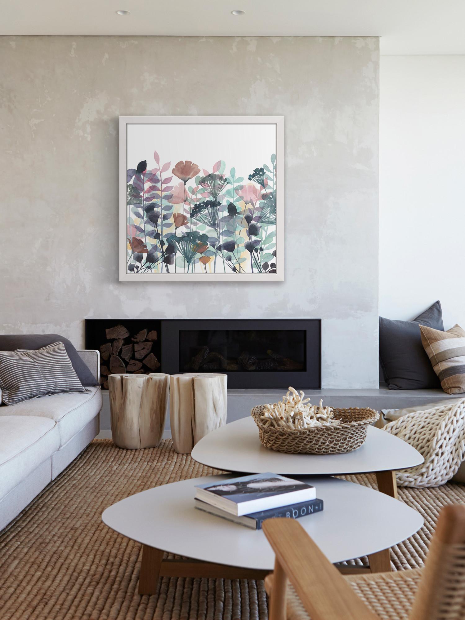 Khung tranh in canvas treo phòng khách nhẹ nhàng, tinh tế