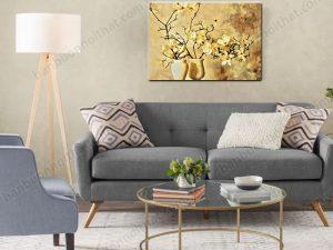Tranh canvas bình hoa mộc lan đẹp trang trí tường đẹp