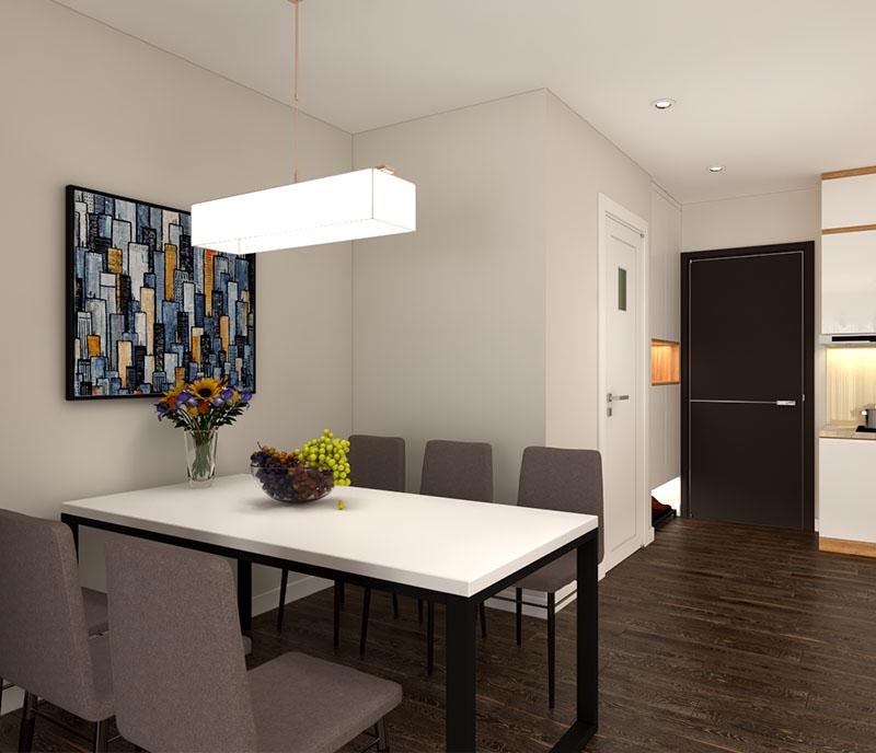 Tranh canvas trừu tượng treo tường phòng ăn