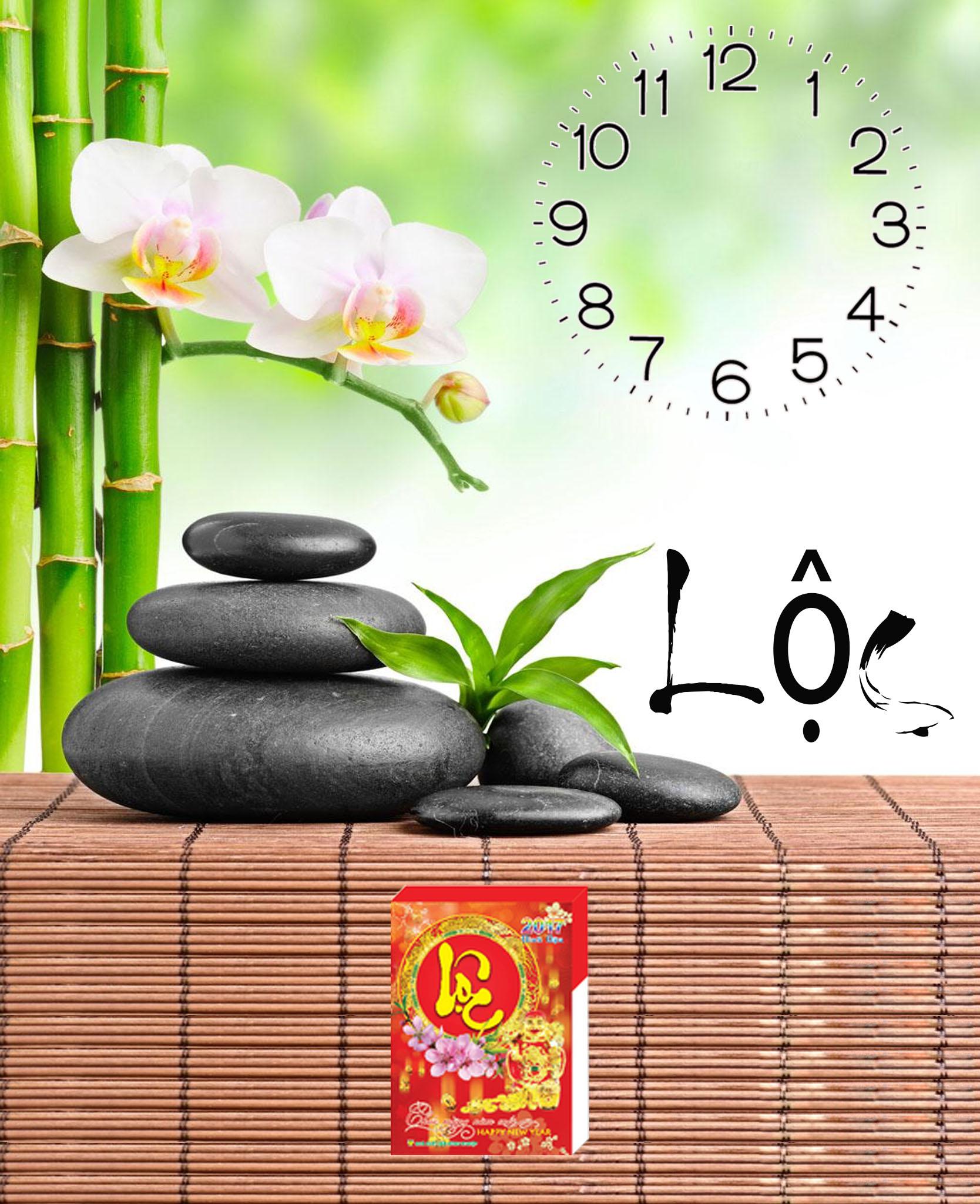 Tranh đồng hồ chữ Lộc thêm Blog lịch
