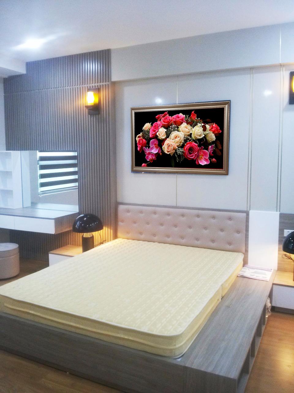 Mẫu tranh hoa hồng treo đầu giường ngủ đẹp Amia HH09