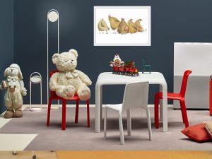Tranh canvas treo phòng trẻ em đẹp