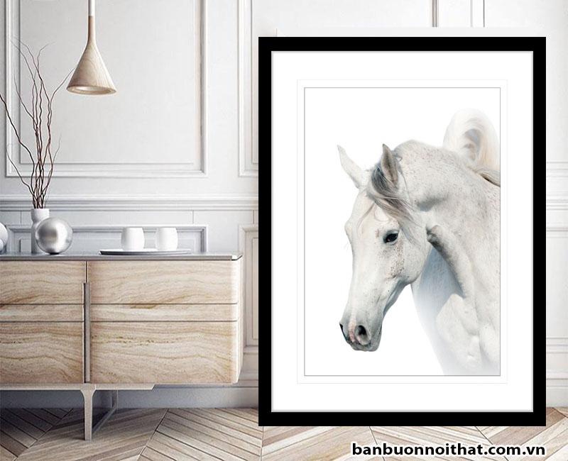 Tranh camvas in hình ngựa được thiết kế hiện đại trang trí không gian hiện đại