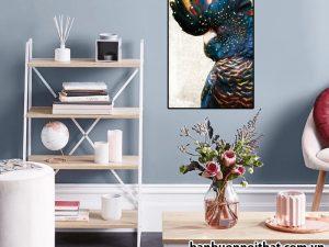 Tranh Vẹt Nam Mỹ in canvas trang trí phòng làm việc đẹp