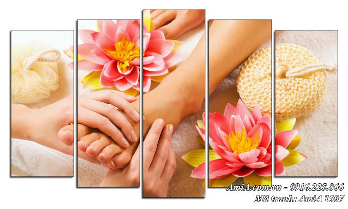 Massage Foot chất lượng cao AmiA 1507 mẫu tranh treo Spa đẹp