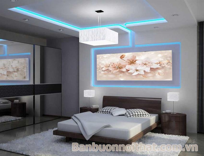 Tranh hoa ly nghệ thuật trang trí phòng ngủ Master, phong cách nhẹ nhàng