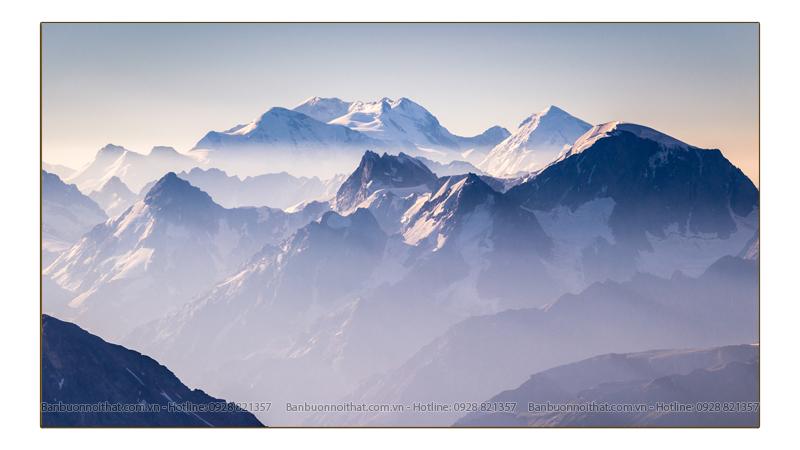 Tranh núi hiện đại sáng màu thích hợp trang trí nhiều không gian nam tính
