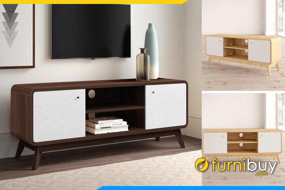 Kệ tivi gỗ phòng khách chung cư đẹp FBK106