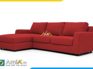 Hình ảnh sofa đẹp bọc vải nỉ màu đỏ