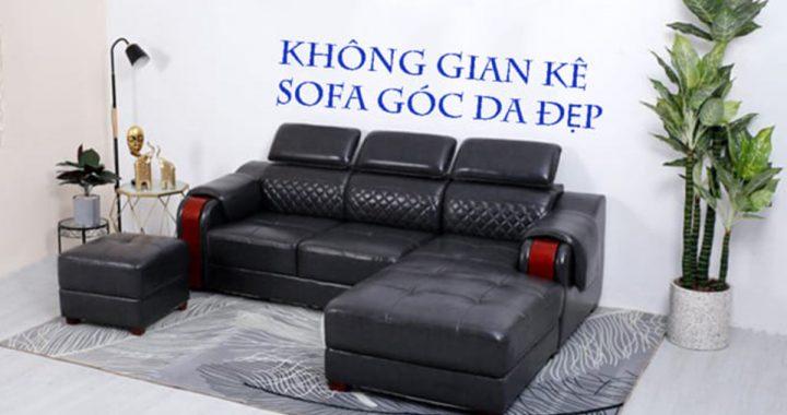 nên kê sofa góc da ở đâu
