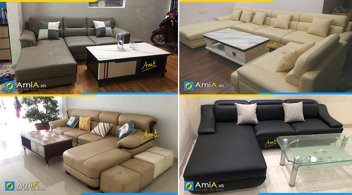 Các kiểu dáng sofa góc da đẹp cho mọi không gian kê