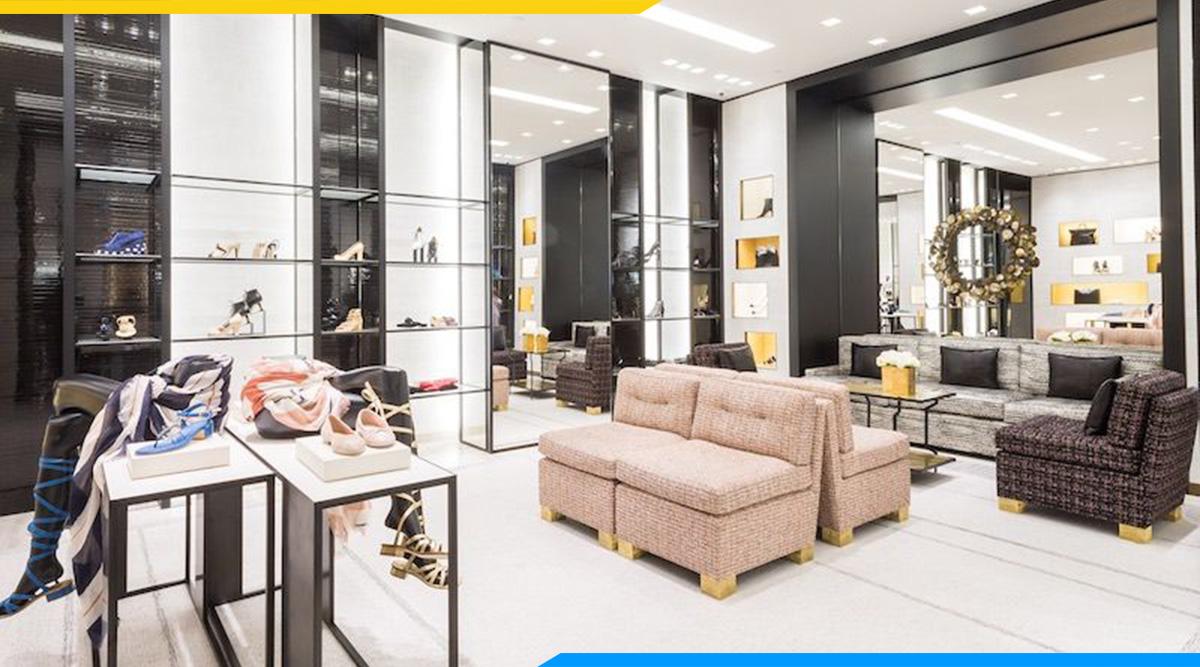 sofa góc đẹp shop thời trang